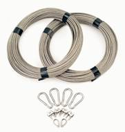 Stainless steel rope anchoring system included
