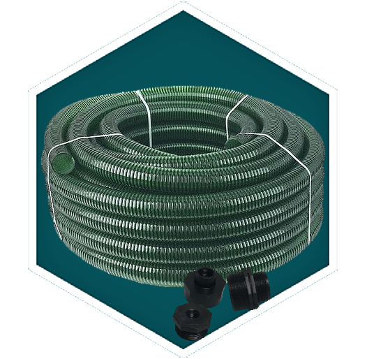 Pond Hose and Clips