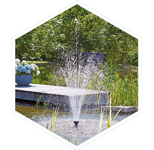 Multiple jet spray nozzles water features fountains