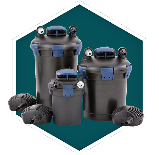 Biopress pressurised pond filters oase filtration for Pond filter cleaning maintenance