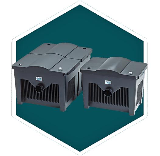 Oase biosmart flow through filter set pond filters for Gravity pond filter setup